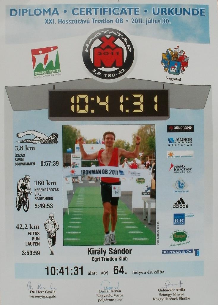 Ironman OB 2011: Király Sándor a célban