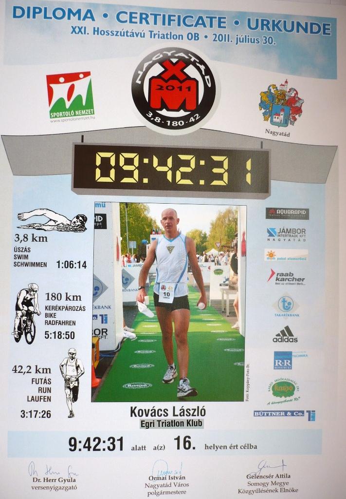Ironman OB 2011: Kovács Laci a célban